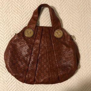 Gucci Guccissima Hysteria Bag-Cognac